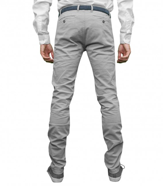 trousers Ischia twill Light Grey