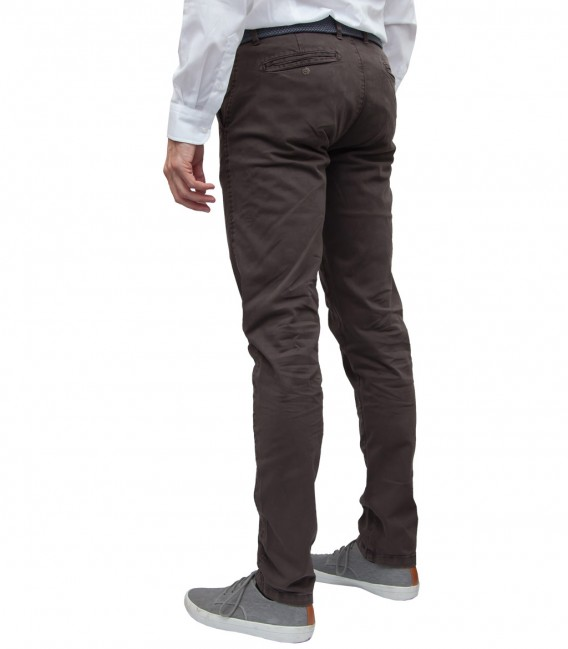 trousers Ischia twill Brown