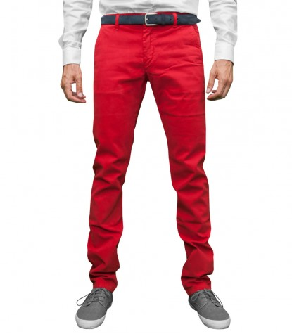 trousers Ischia twill Red