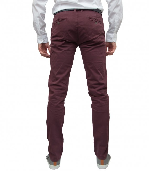 trousers Ischia twill Red Bordeaux