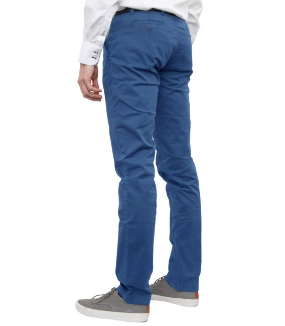 trousers Ischia twill Blue Avion