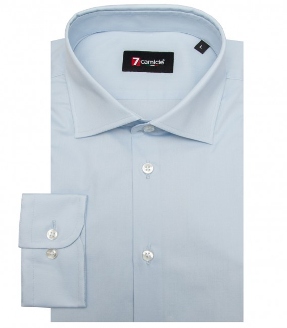Shirt Firenze stretch poplin Light Blue