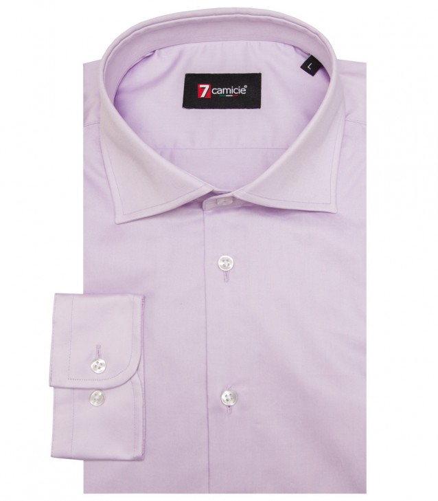 Shirt Firenze Satin Lilac