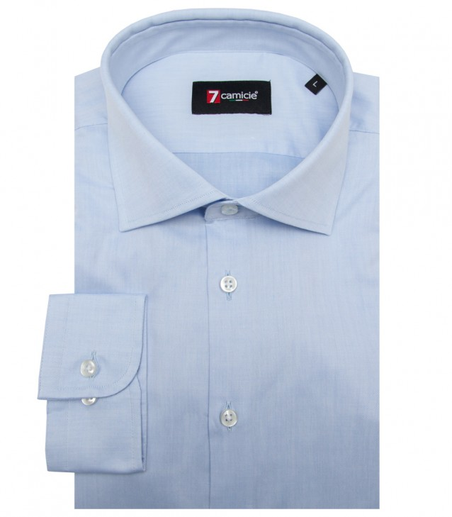 Shirt Firenze twill Light Blue