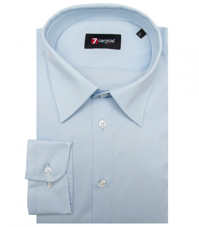 Shirt Romeo stretch poplin Light Blue