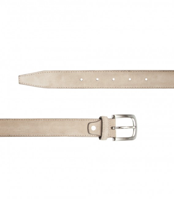 Off White Suede Man Belt