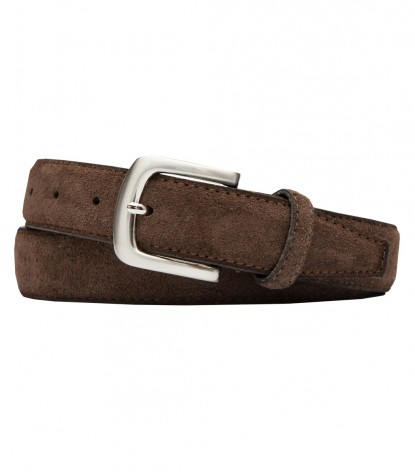 Brown Suede Man Belt