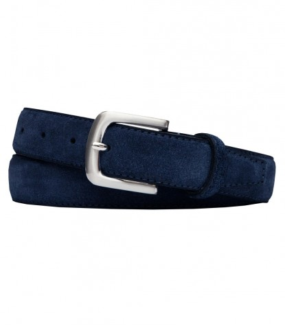 Light Blue Suede Man Belt