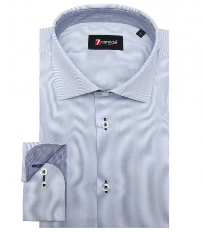 Shirt Firenze Poplin WhiteBlue