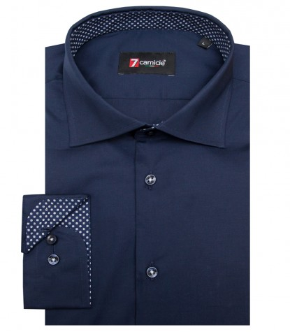 Shirt Firenze stretch poplin Blu