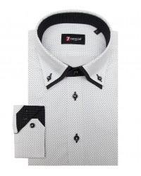 Shirt Marco Polo Cotton WhiteBlack