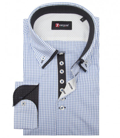 Shirt Donatello Cotton WhiteBlue