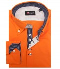 Shirt Roma stretch poplin Orange