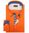 Hemd Donatello Stretch-Popeline Orange