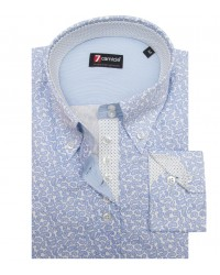 Shirt Silvia Cotton WhiteLite Blue