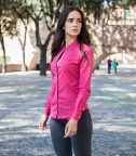 Shirt Sofia stretch poplin Fuchsia