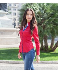 Shirt Silvia stretch poplin Red