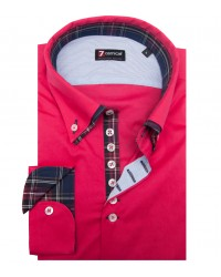 Shirt Donatello stretch poplin Fuchsia