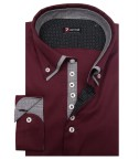 Camicia Donatello Popeline stretch Bordeaux