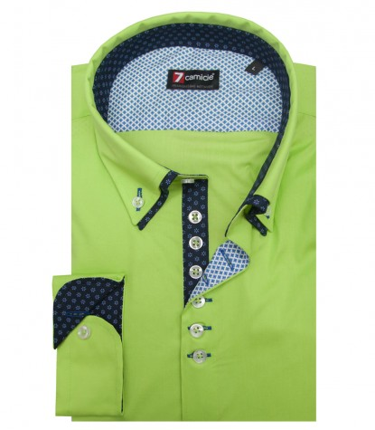 Shirt Donatello stretch poplin Green
