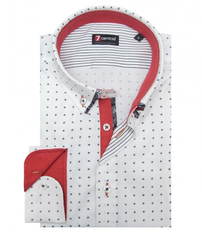 Shirt Leonardo Oxford WhiteBlack