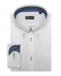 Shirt Leonardo stretch poplin White