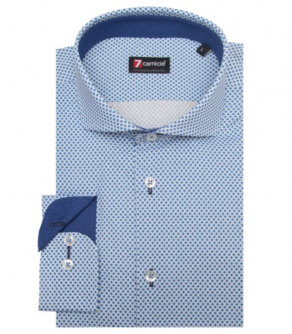 Shirt Firenze Cotton BlueWhite