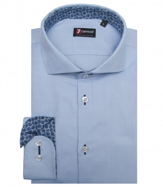 Chemises Firenze Oxford Bleu clair