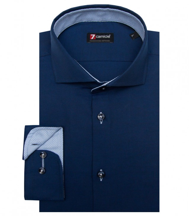 Camisas Firenze Oxford Azul