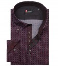 Shirt Roma Cotton BordeauxDark Grey