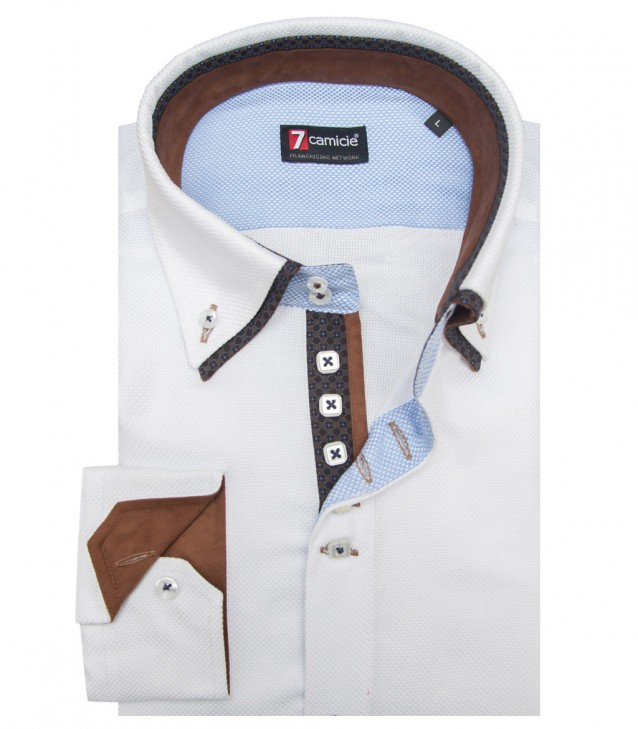 Shirt Marco Polo Weaved WhiteWhite