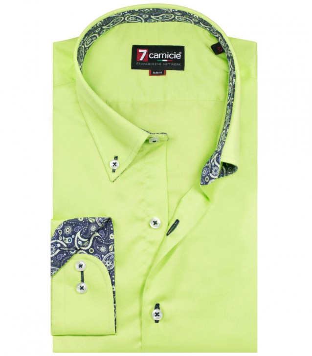 Shirt Leonardo Satin Green
