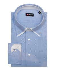 Shirt Marco Polo Weaved Light BlueWhite