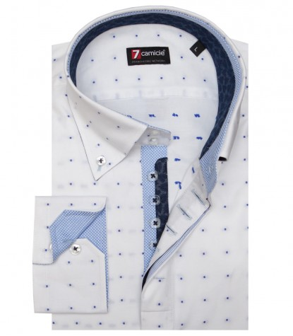 Shirt Roma Oxford WhiteBlue