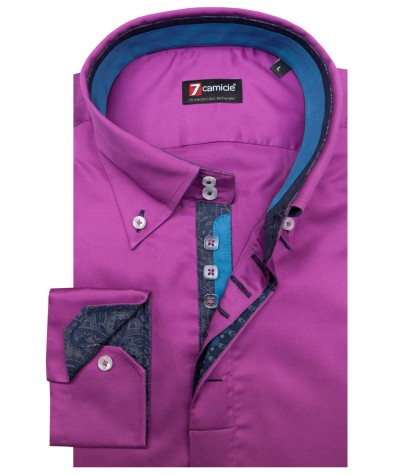 Shirt Roma Satin Cyclamen Violet