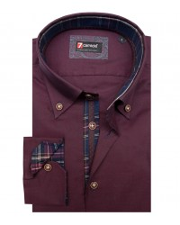 Shirt Roma Oxford Red Bordeaux