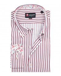 Shirt Leonardo Satin WhiteRed