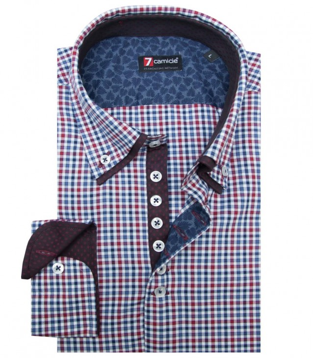 Shirt Donatello Oxford RedBlue
