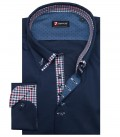 Camicia Donatello Popeline stretch Blu