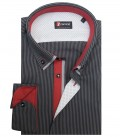 Shirt Leonardo Cotton Dark GreyBlack