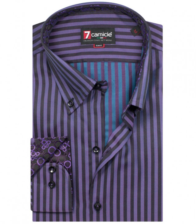 Shirt Leonardo Violet and Malibu Blue