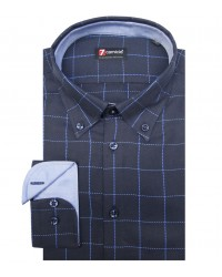 Shirt Leonardo Weaved BlueLite Blue