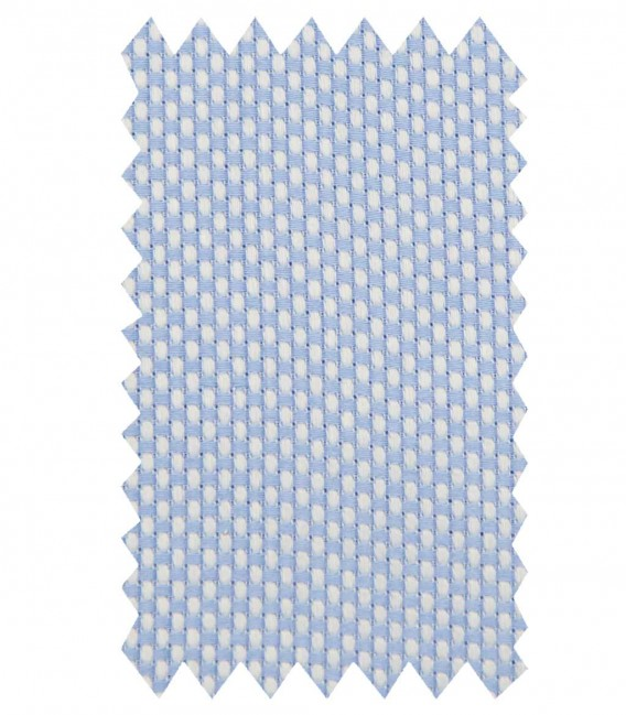 Shirt Leonardo Weaved Light BlueWhite