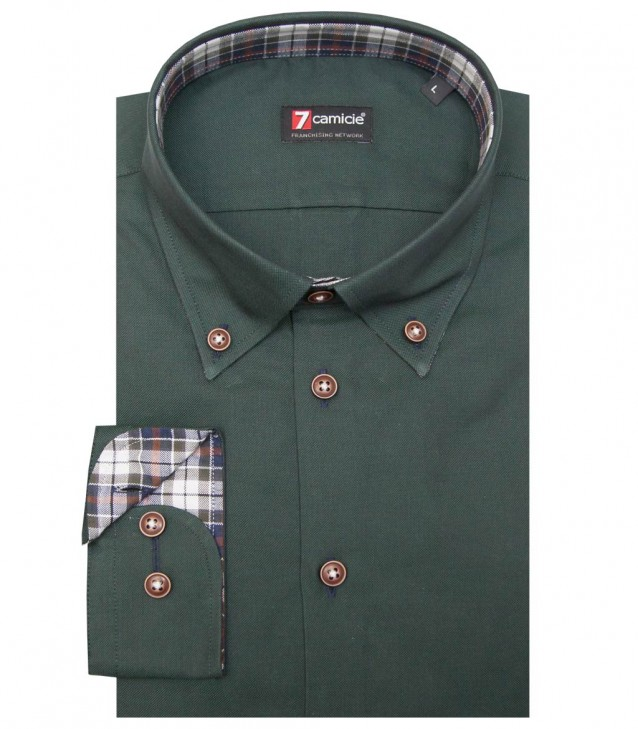 Shirt Leonardo Oxford Dark Green