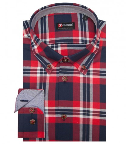 Shirt Leonardo Oxford RedBlue