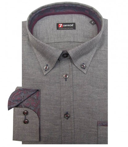 Grey Men Shirt Leonardo