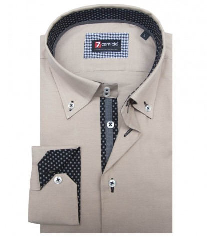 Camisas Roma Oxford Beige