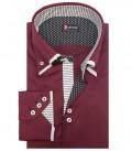 Shirt Colosseo Satin Red Bordeaux