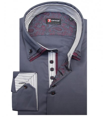 Shirt Vesuvio Satin Dark Grey