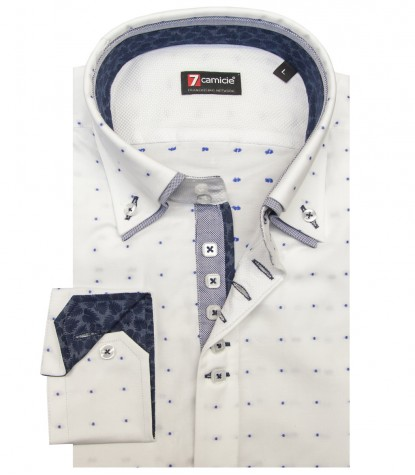 Chemises Marco Polo Oxford BlancBleu